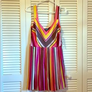 Multi-colored, Open-backed Dress